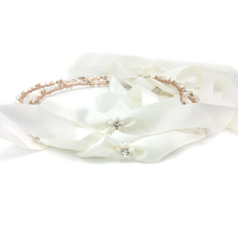 rose gold greek wedding orthodox stefana crown