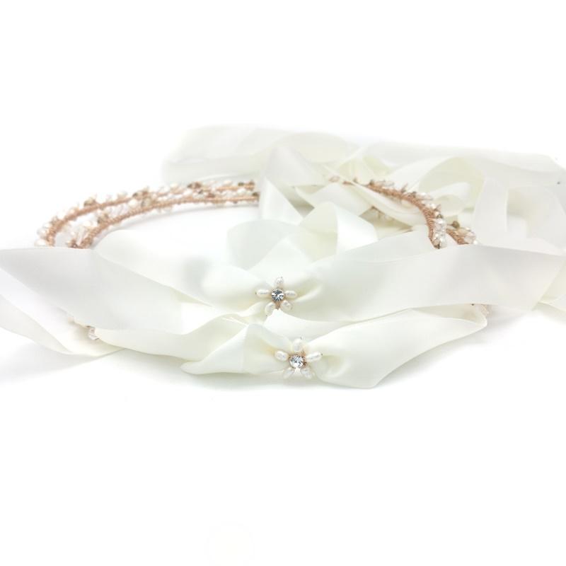 rose gold greek wedding orthodox stefana crown