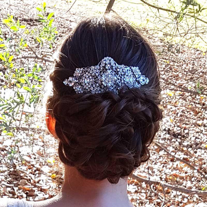 swarovski bespoke bridal hair comb