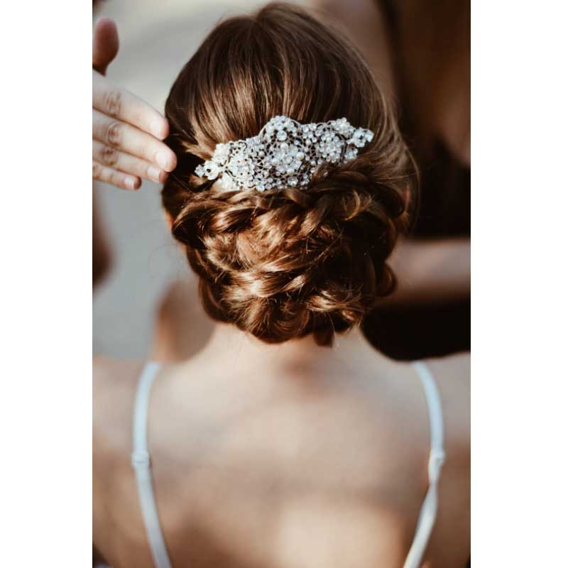 pearl and crystal bridal hair comb