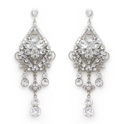 large chandelier swarovski crystal earrings