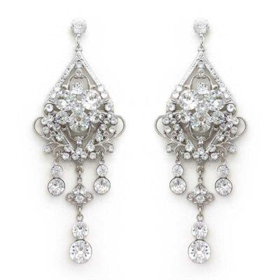 large chandelier swarovski crystal earrings