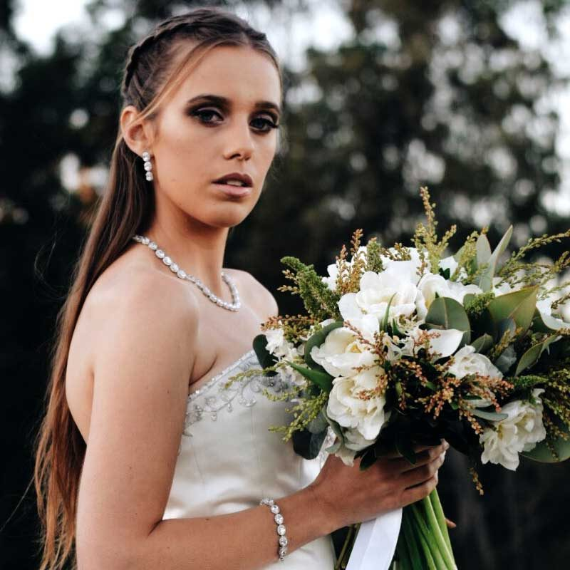 Jasmin - Silver Oval Shaped Bracelet