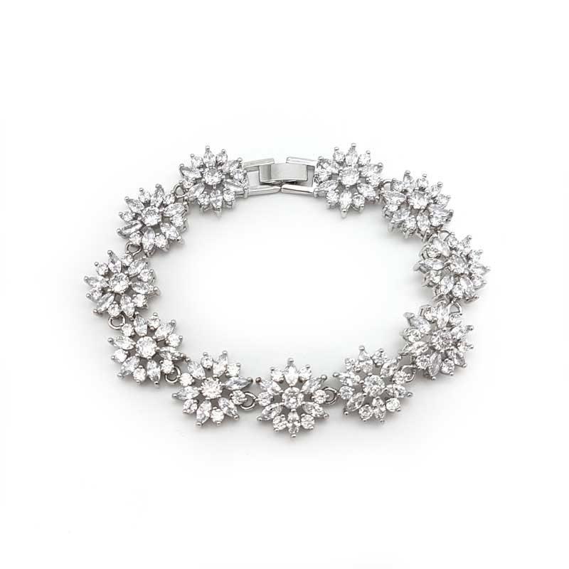 silver cz bridal bracelets