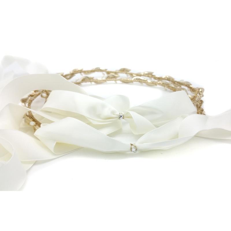 champagne gold pearl and olive leaf wedding stefana