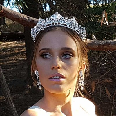 silver pearl and crystal bridal crown and tiara