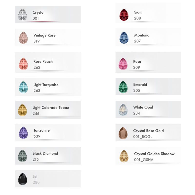 'Shayna' Swarovski Crystal Studs (Various Colours)