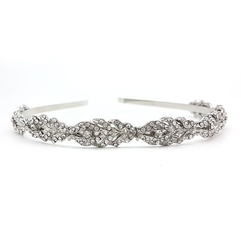 silver bridal headband