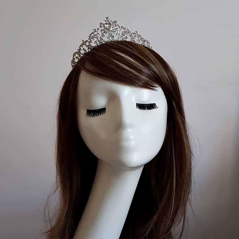 Belle silver crystal crown Cassidy