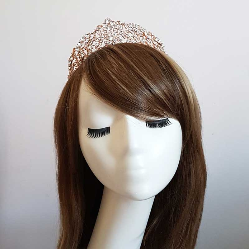 rose gold bridal crown