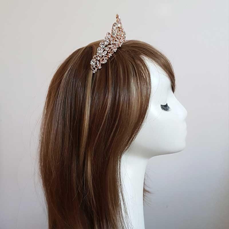 rose gold bridal tiara