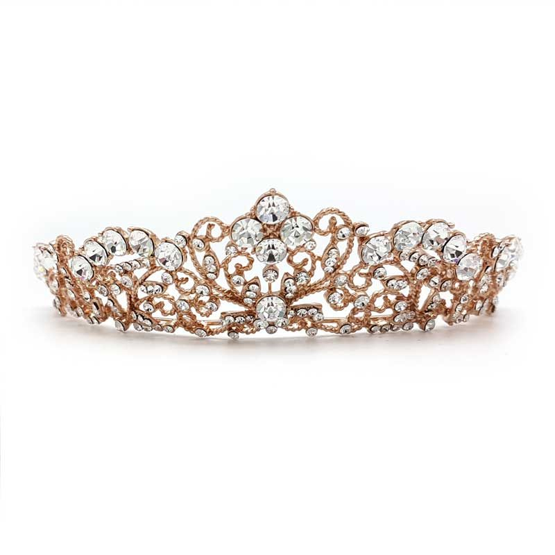 rose gold Jeffrey bridal crown