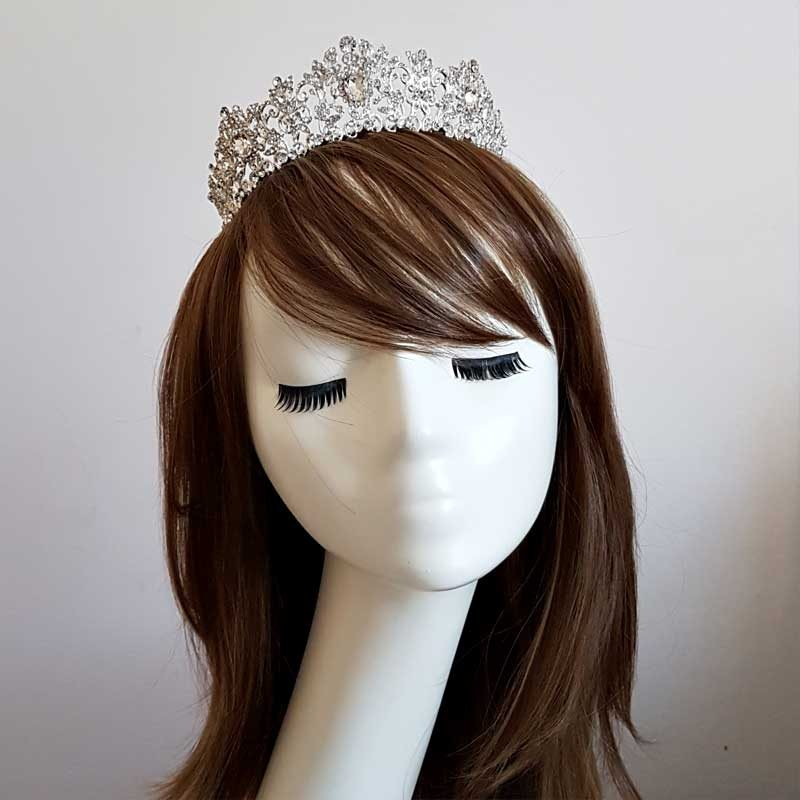 Silver Beth Davina bridal crown