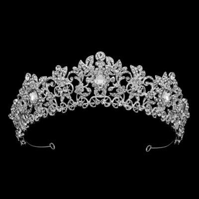 silver Beth crystal bridal crown