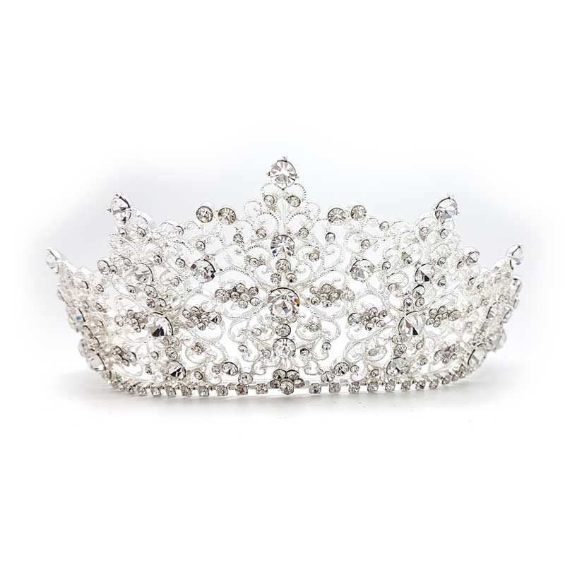 Alexis Eileen silver crystal bridal crown