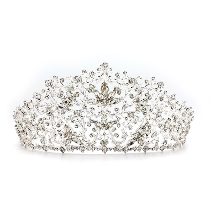 large silver bridal tiara