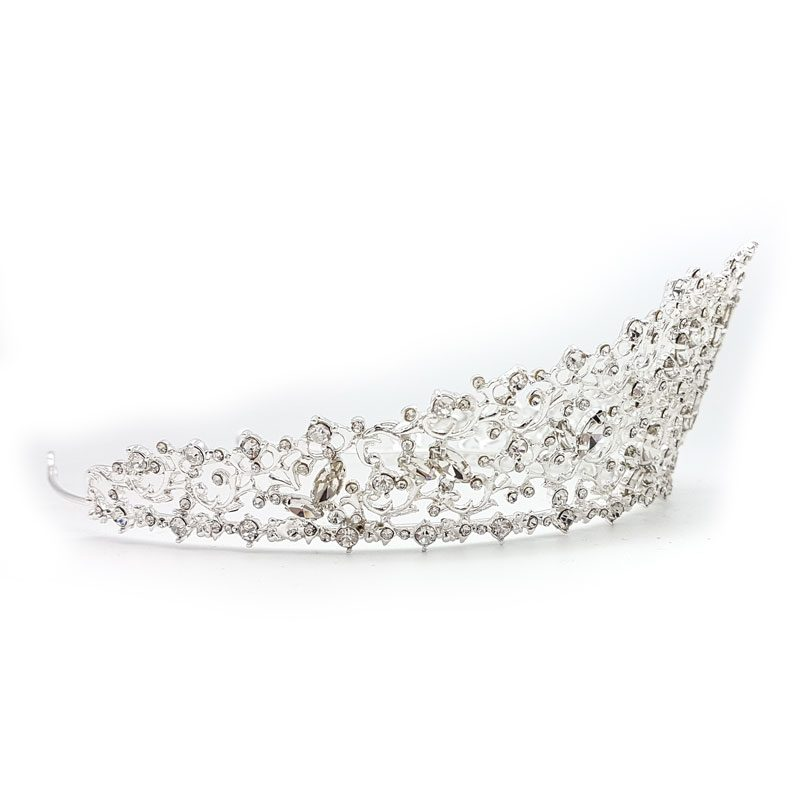 Silver bridal crystal crown