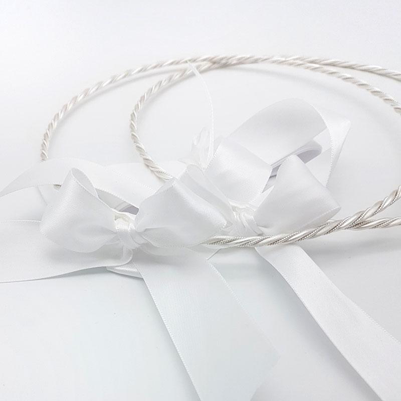 silver twisted greek stefana crowns