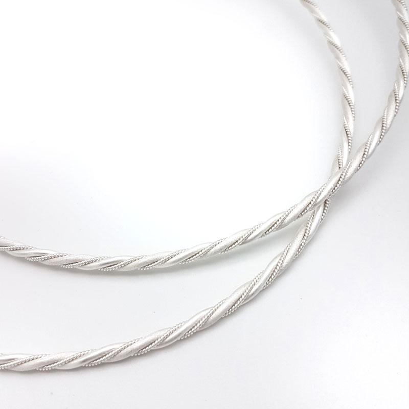 twisted silver bridal stefana