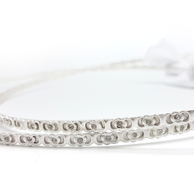 silver crystal bridal greek stefana crowns