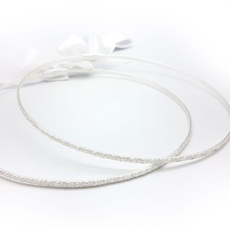 silver greek wedding stefana crowns