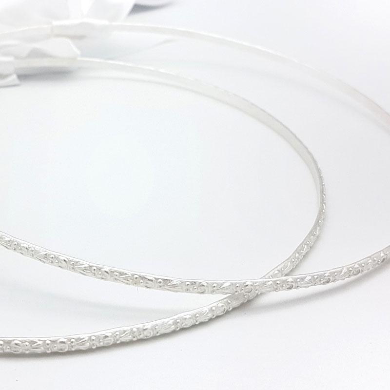 silver bridal greek stefana
