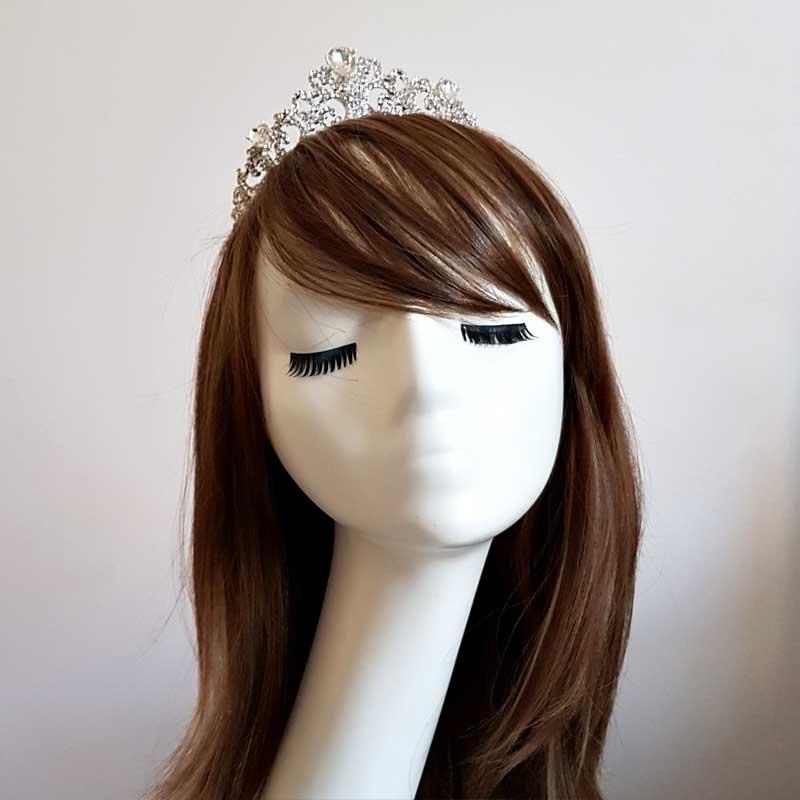kendall silver crystal bridla crown
