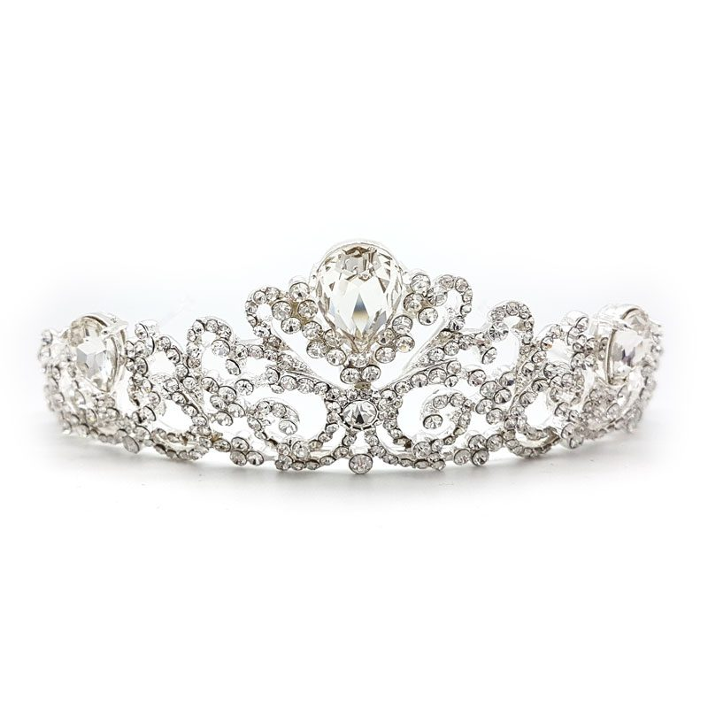 kendall silver bridal crown