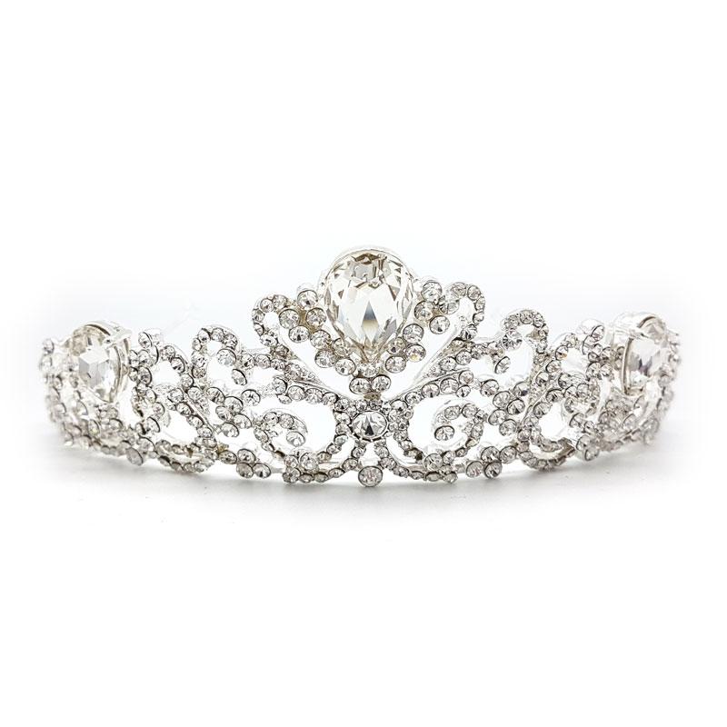 kendall silver bridal crown