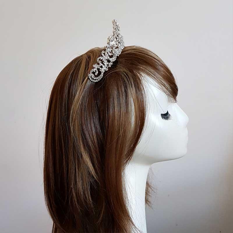 Kendall silver bridal tiara Lani