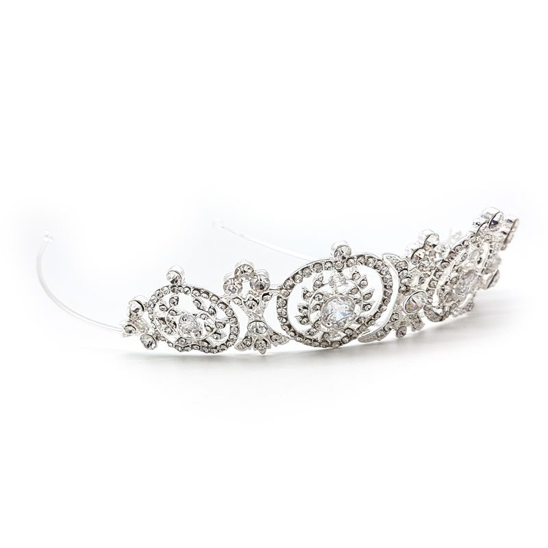 Esme silver bridal crystal crown