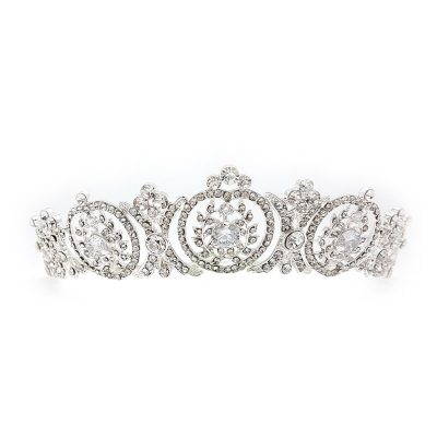Esme silver crystal crown