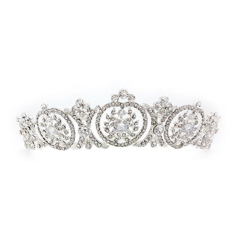 Esme silver crystal crown