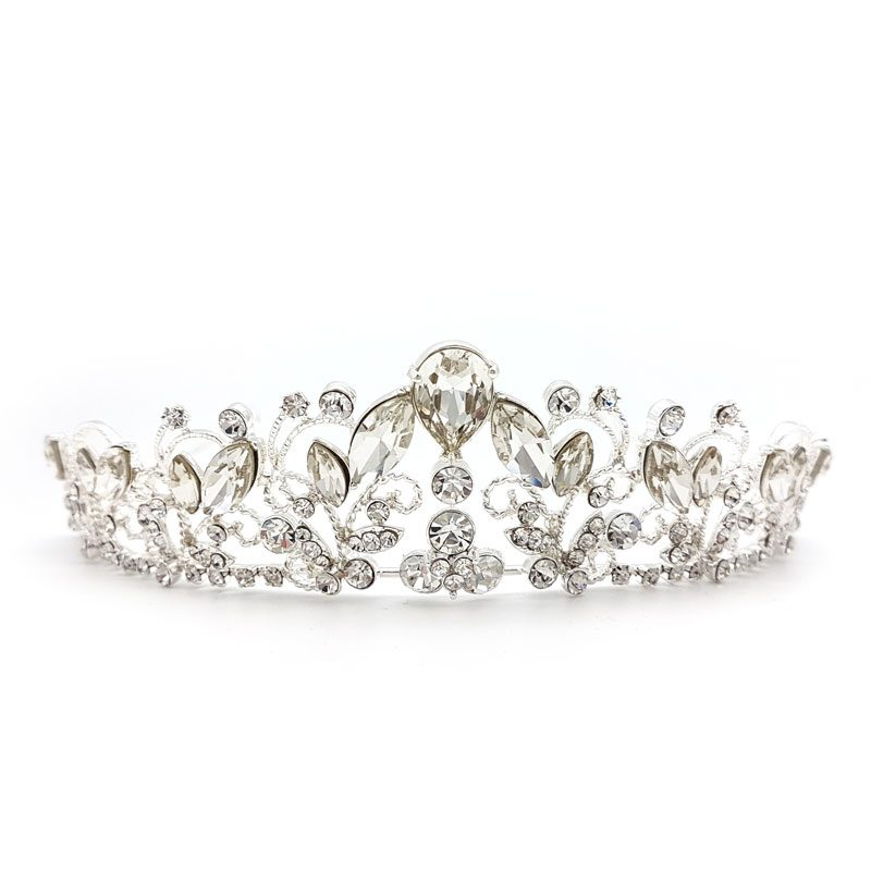 Angelica silver bridal crown