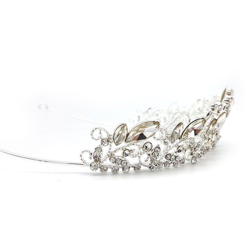Angelica silver crystal bridal tiara Paulini