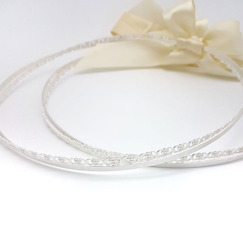 silver bridal stefana crowns