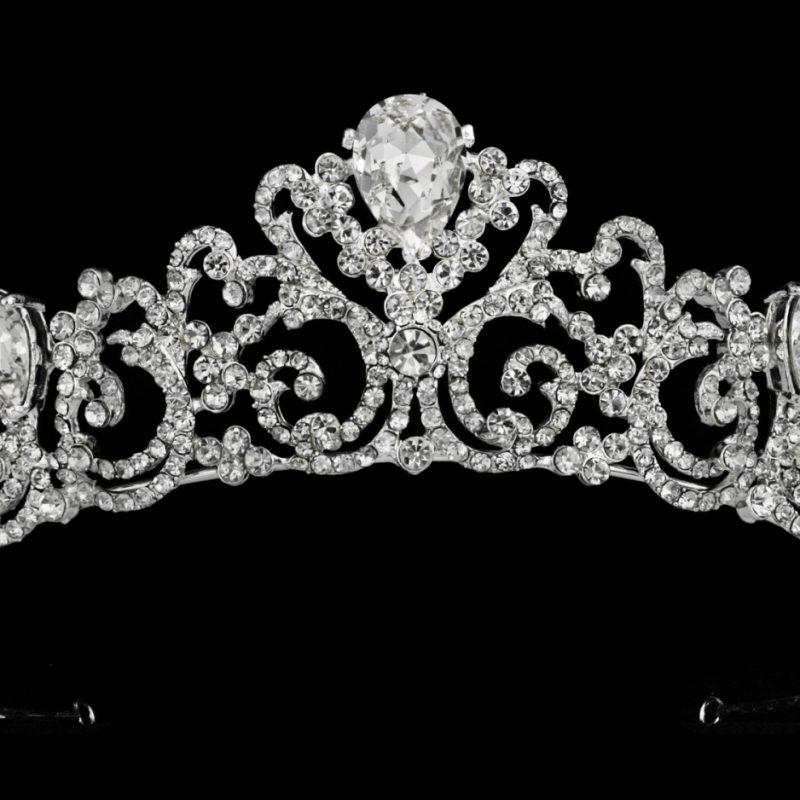 Kendall silver bridal crown - Lani