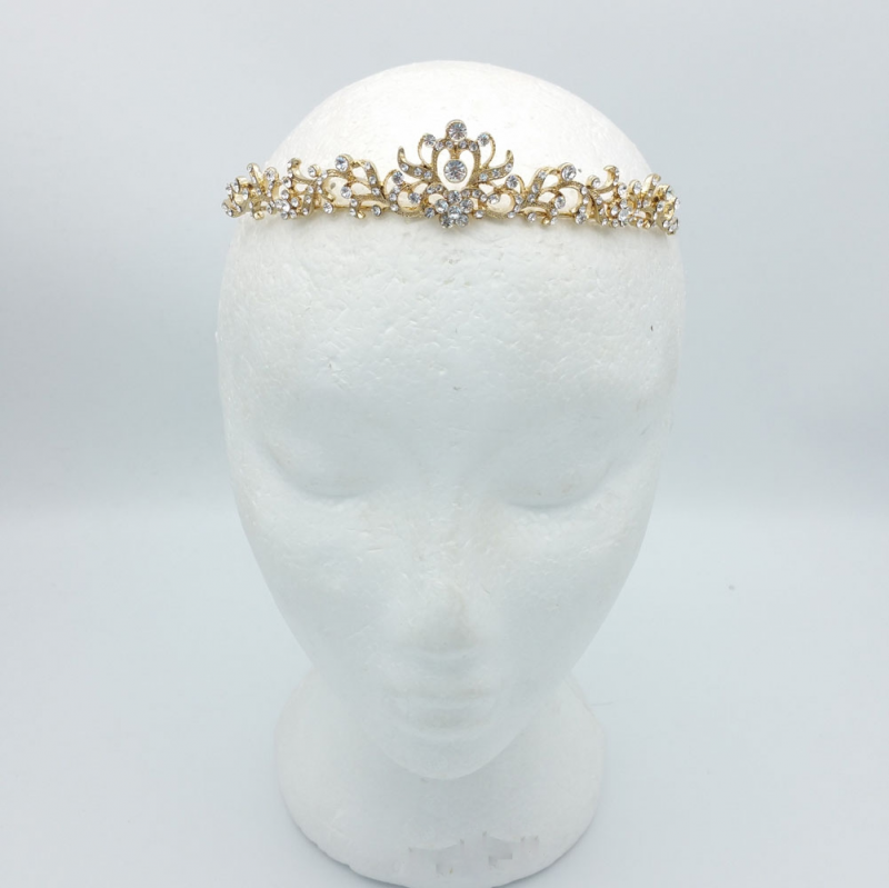 gold bridal crown