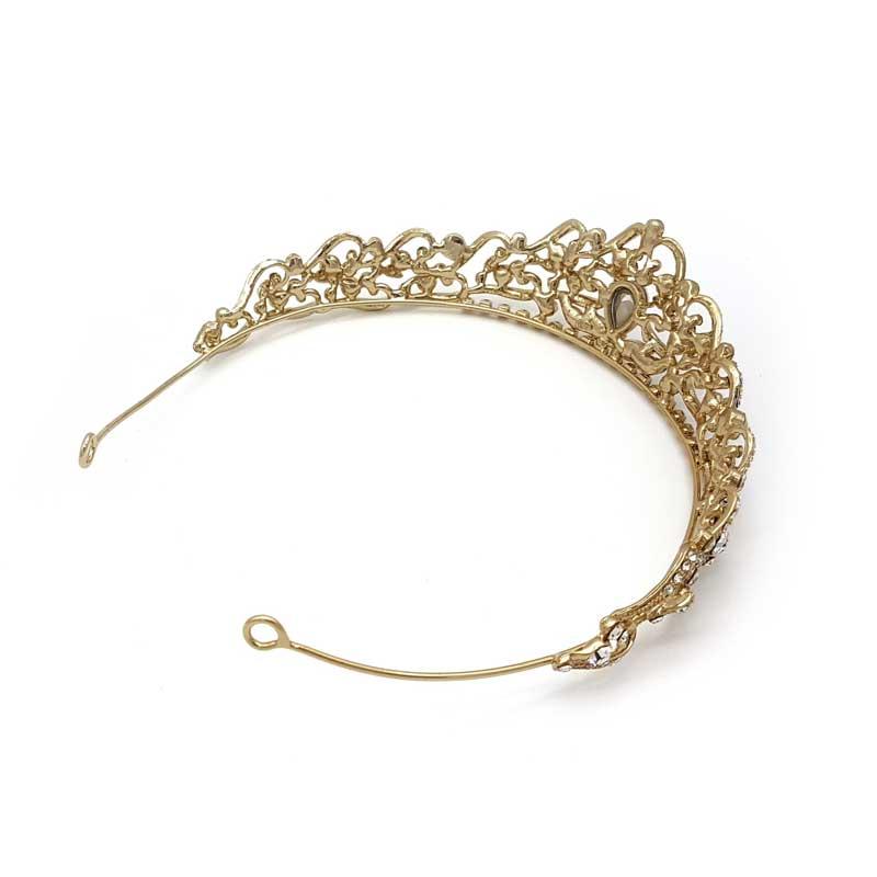 champagne gold bridal crown