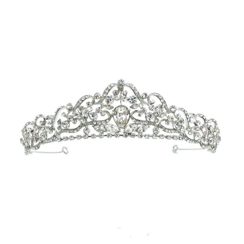 rhodium silver bridal tiara
