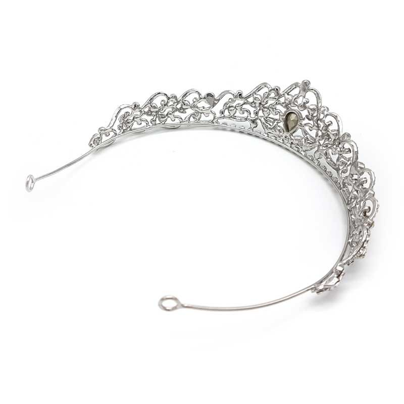 silver wedding crown