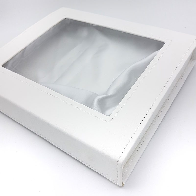 White leather greek stefanothiki box stefana case