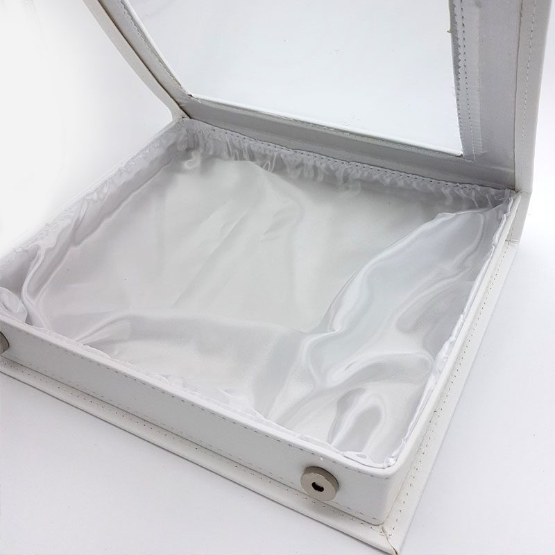 white leather stefana box
