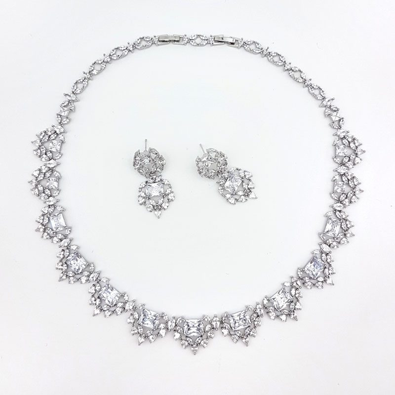 bridal collar necklace set