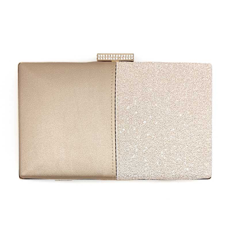blush bridal clutch