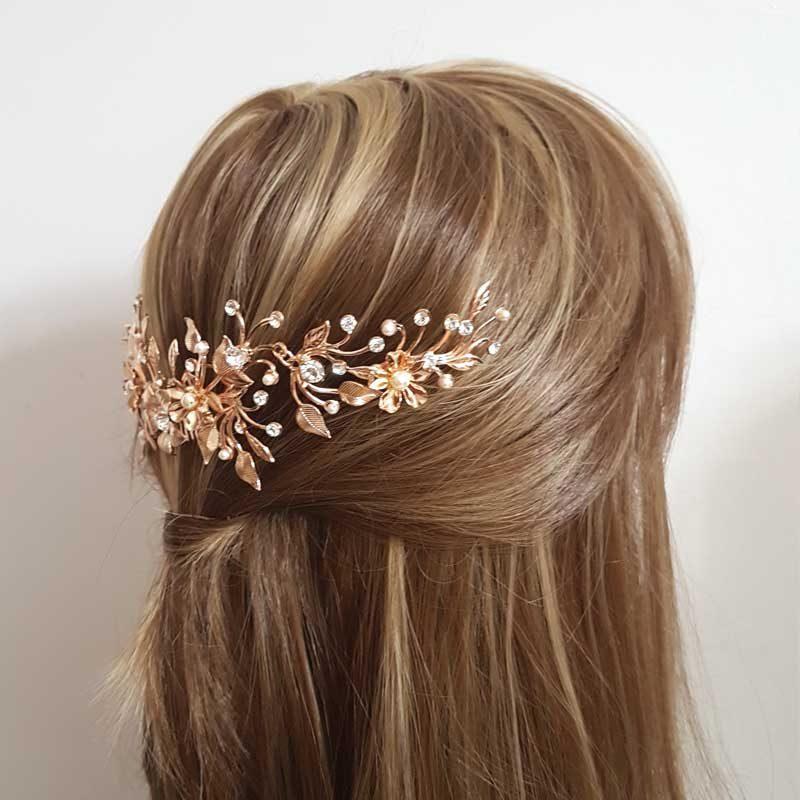 bold swarovski crystal and pearl bridal comb