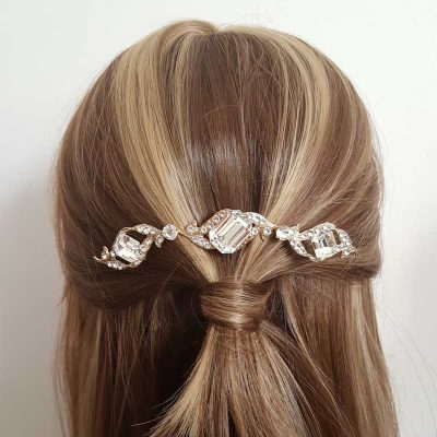 gold crystal bridal crown