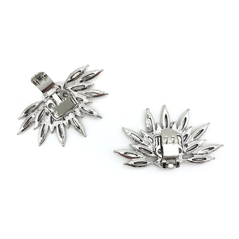 silver shoe clips