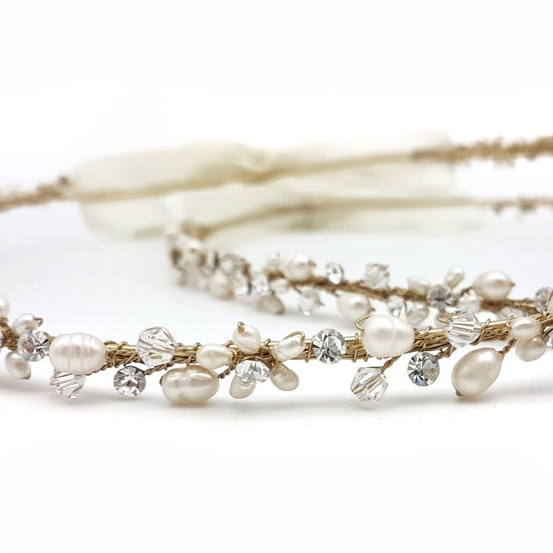 gold pearl and crystal stefana crowns