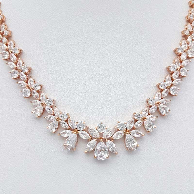 rose gold wedding necklace